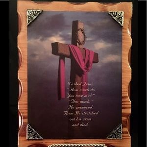 Christian Inspirational Wood Lacquer Picture